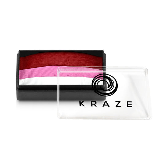 Kraze FX Face and Body Paints | Domed 1 Stroke Cake - Pink Rose 25gr - Jest Paint Store