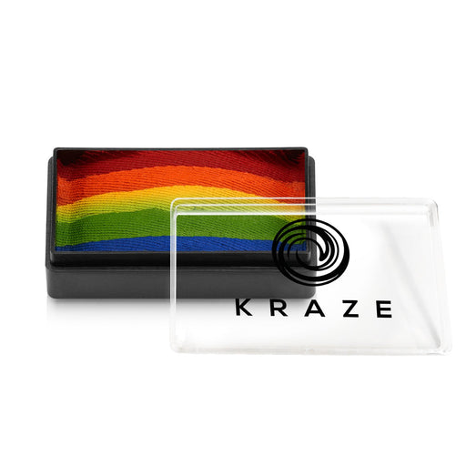 Kraze FX Face and Body Paints | Domed 1 Stroke Cake - Really Rainbow 25gr