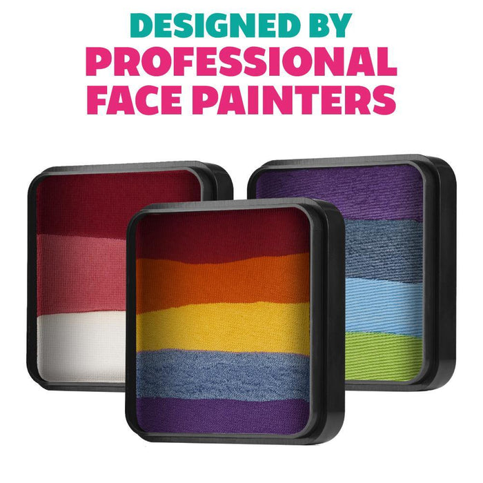 Kraze FX Face and Body Paints | Domed Rainbow Cake designed by professionals
