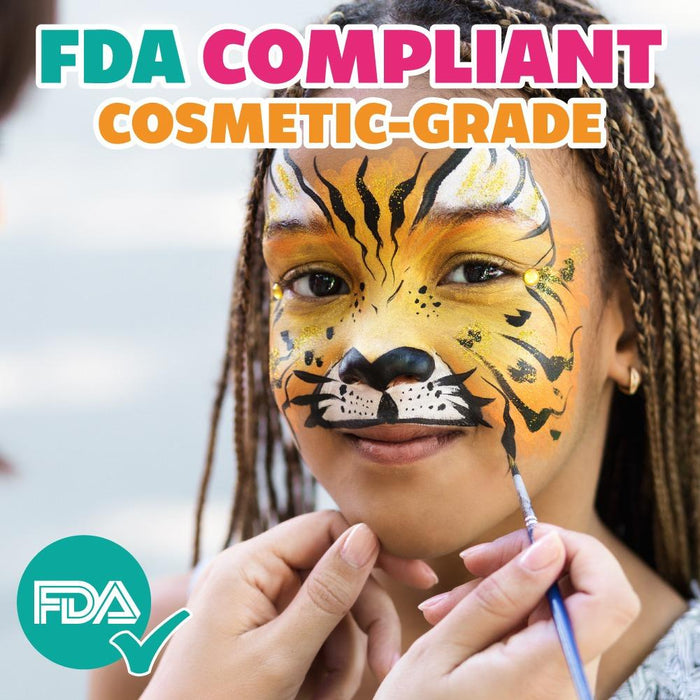 Kraze FX Face and Body Paints | Domed Rainbow Cake - FDA Compliant