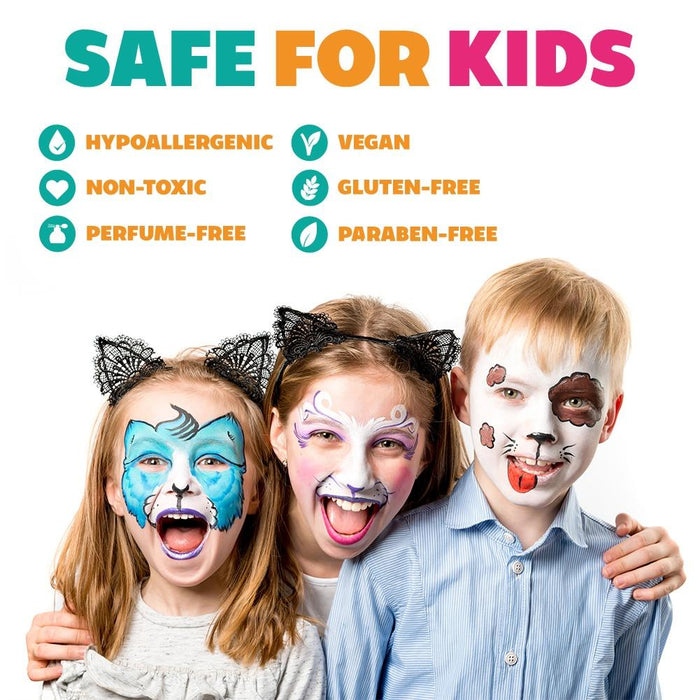 Kraze FX Face and Body Paints | Domed Rainbow Cake - Safe for Kids