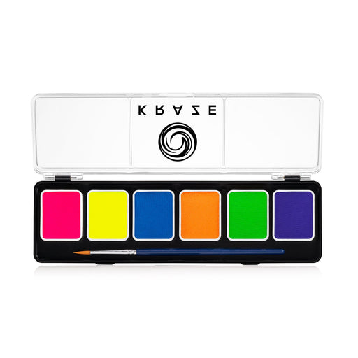 Kraze FX Special Effects Paints | 6 Neon Colors Palette (6 gm each)