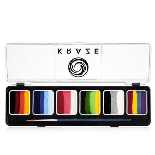 Kraze FX Face and Body Paints | Splash 6 One Stroke Split Cake Palette (6 gm each)