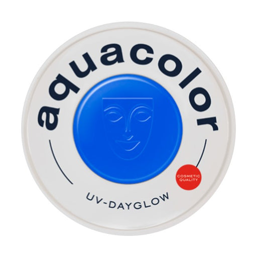 Kryolan Aquacolor Face Paints | Cosmetic Grade - UV Dayglow Blue 30ml