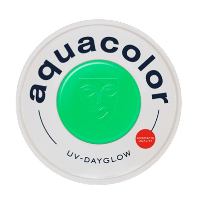 Kryolan Aquacolor Face Paints | Cosmetic Grade - UV Dayglow Green 30ml