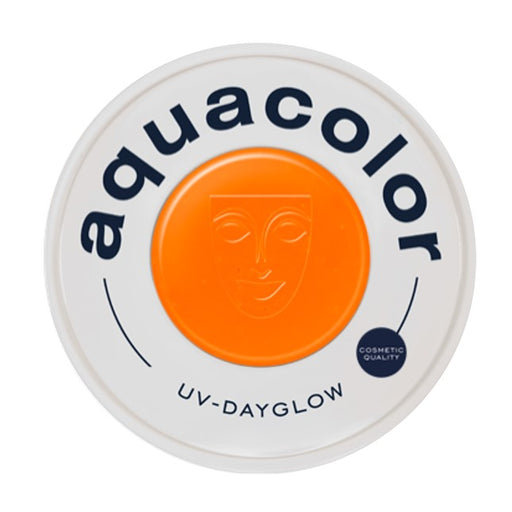 Kryolan Aquacolor Face Paints | Cosmetic Grade - UV Dayglow Orange 30ml - Jest Paint Store
