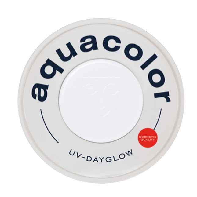 Kryolan Aquacolor Face Paints | Cosmetic Grade - UV Dayglow White  30ml