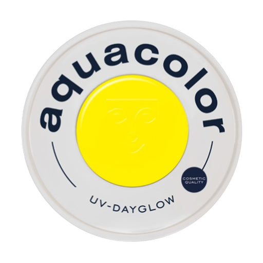 Kryolan Aquacolor Face Paints | Cosmetic Grade - UV Dayglow Yellow 30ml - Jest Paint Store