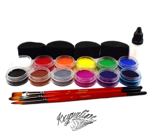 Kryvaline - Creamy Essential Colors | Face Painting Starter Kit - Jest Paint Store