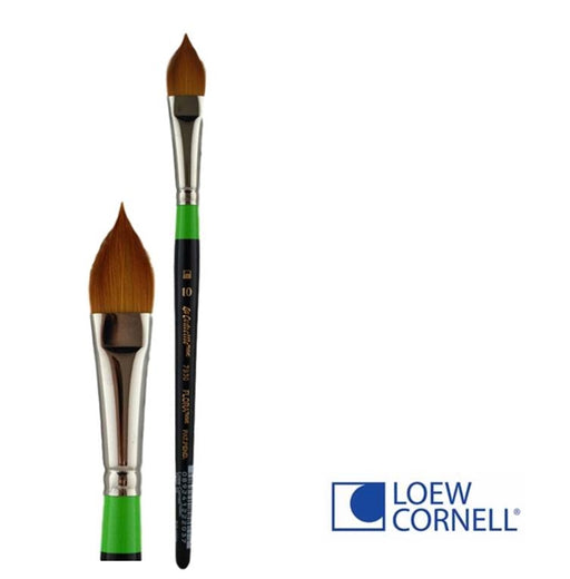 Face Painting Brush - Loew-Cornell 7930 10T - Flat Pointy-  Flora #10 - DISCONTINUED by LC - Jest Paint Store