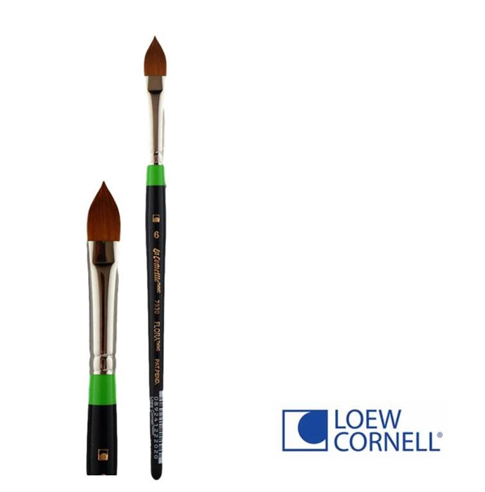 Face Painting Brush - Loew-Cornell 7930 6T - Flat Pointy - Flora #6 - DISCONTINUED by LC - Jest Paint Store