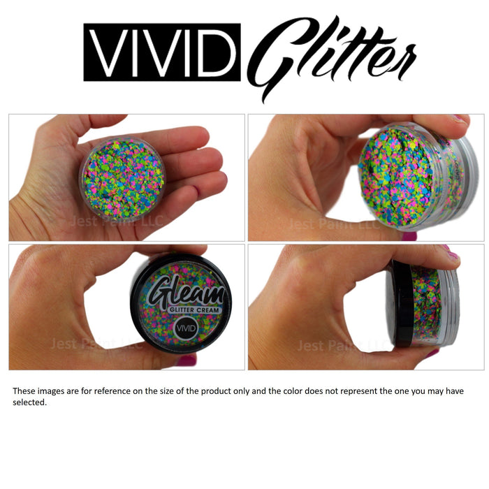 Large Gleam Glitter Creams by Vivid Glitter - Product Perspectives