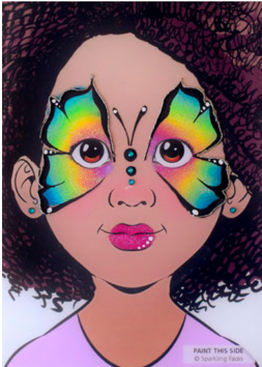 Sparkling Faces | Face Painting Practice Board - Lia 1