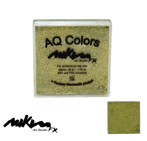 MiKim FX Face Paint | Special (Pearl) - Golden Green S10 (40gr) - Jest Paint Store