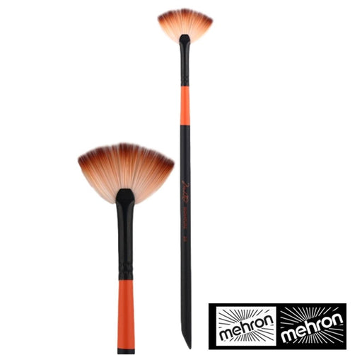 "Mehron Face Painting Brush - Mark Reid Signature - Fan Brush 1 1/4"" spread (F-1) - Jest Paint Store"