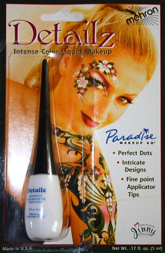 Detailz Liquid Face Paint By Mehron - White - Jest Paint Store