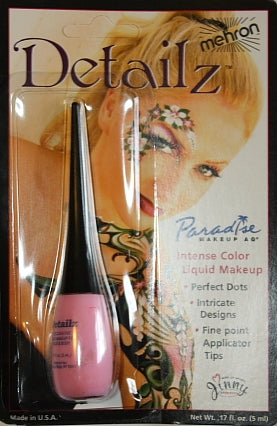Detailz  Liquid Face Paint By Mehron  - Pink - Jest Paint Store