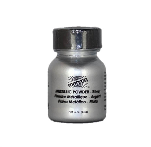 Mehron | Metallic Face Painting Powder - Silver - 1oz - Jest Paint Store