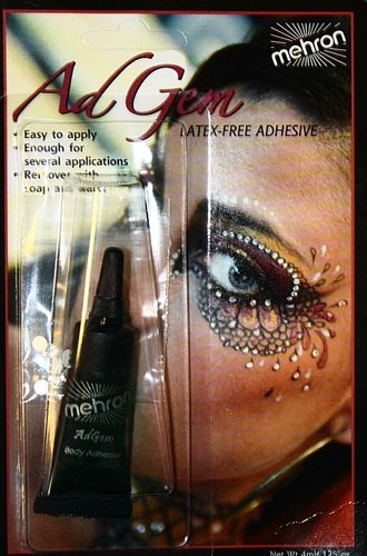 Mehron |  Washable Body Glue - Ad Gem & Rhinestones - 4ml Tube #14 - Jest Paint Store