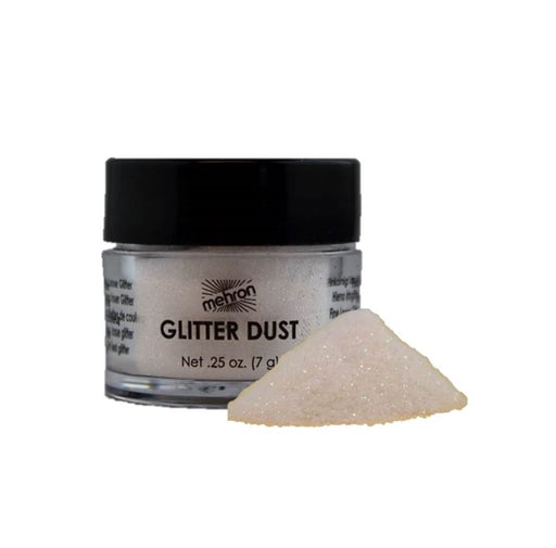 Mehron Glitter Dust - Opalescent White (Carded) - Jest Paint Store