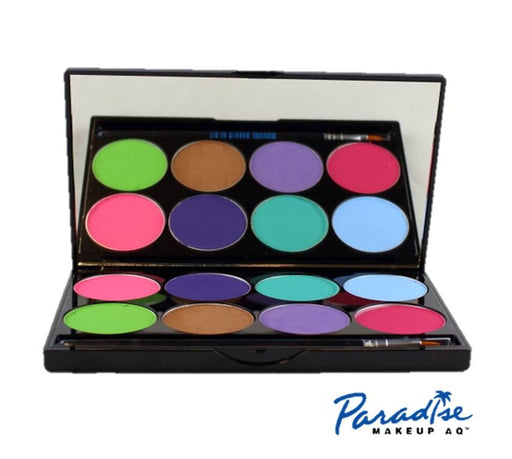Paradise Face Paint - 8 Color Pastel Palette By Mehron - Jest Paint Store