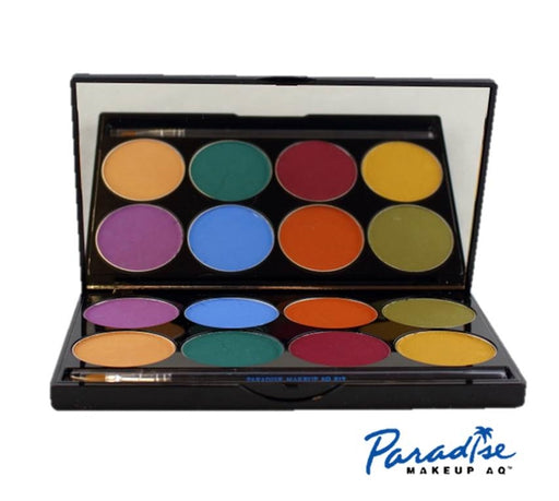Paradise Face Paint  By Mehron - 8 Color Nuance Palette (Zombie Colors) - Jest Paint Store