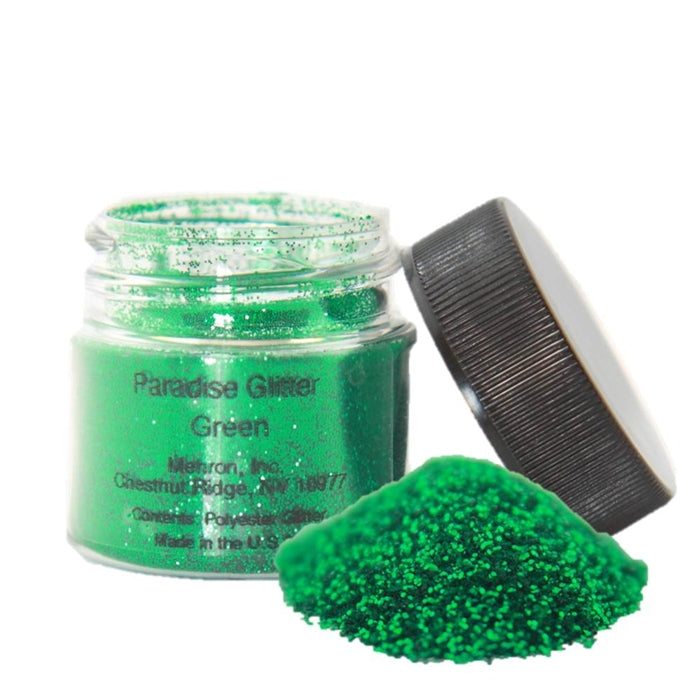 Face Paint Glitter Jar - Paradise  By Mehron - Opaque Shamrock Green - 7gr - Jest Paint Store