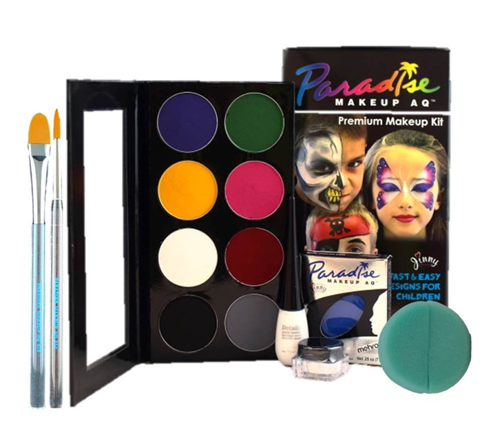 Paradise By Mehron - Premium Makeup Kit w/ added Lagoon Blue - Jest Paint Store