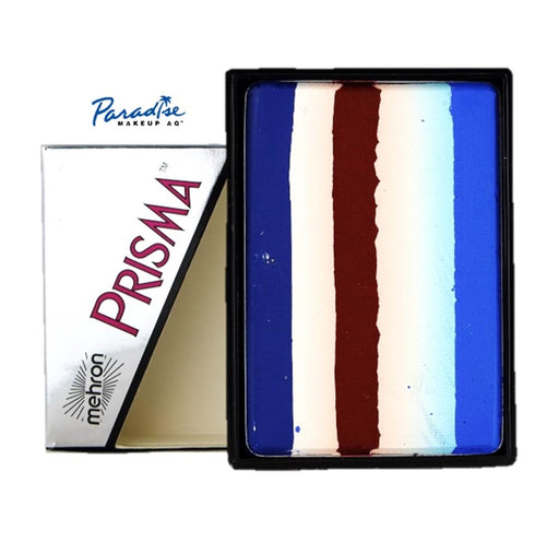 Paradise PRISMA Rainbow Face Paint Cake By Mehron | Patriot - 50gr - Jest Paint Store