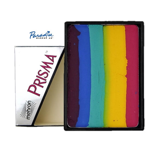 Paradise PRISMA Rainbow Face Paint Cake By Mehron | Flash 50gr - Jest Paint Store