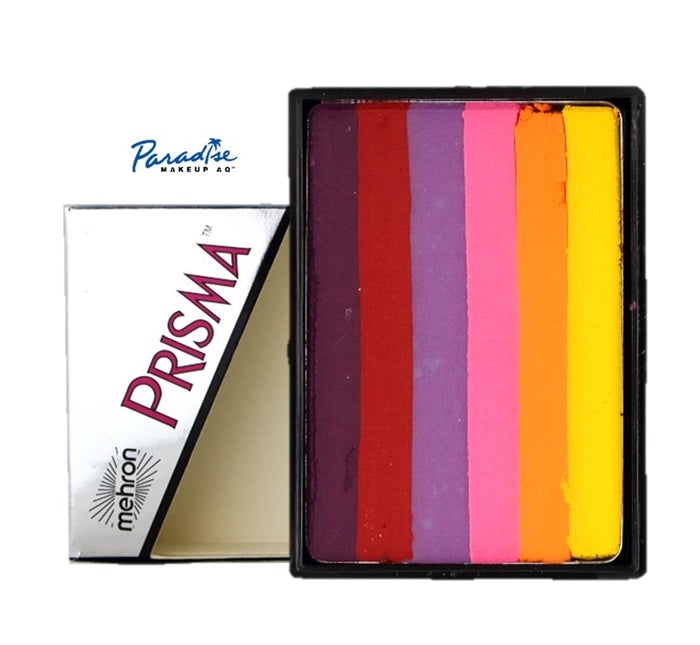 Paradise PRISMA Rainbow Face Paint Cake By Mehron | Sunset 50gr - Overstock Sale! - Jest Paint Store