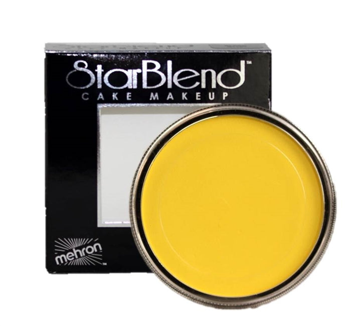 StarBlend Powder Face Paint By Mehron  - Yellow 56gr - Jest Paint Store