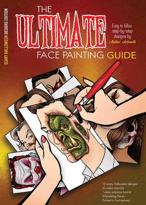 Sparkling Faces | The Ultimate Face Painting Practice Guide - Scary Halloween Designs by Matteo Arfanotti - Jest Paint Store