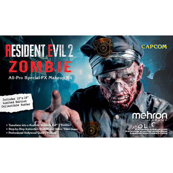 Mehron | Special FX Make Up Kit - Resident Evil 2 Zombie