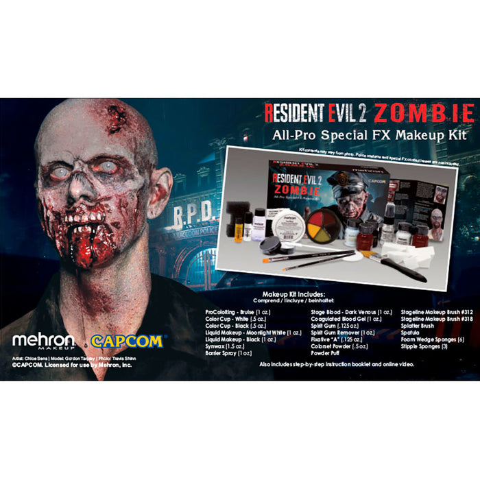 Mehron | Special FX Make Up Kit - Resident Evil 2 Zombie - Discontinuing - Jest Paint Store