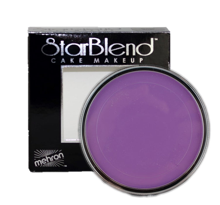 StarBlend Powder Face Paint By Mehron  - Purple (Best for Wet Application) 56gr - Jest Paint Store
