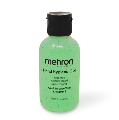 Mehron Makeup | Alcohol Based  - Hand Hygiene Gel 2oz
