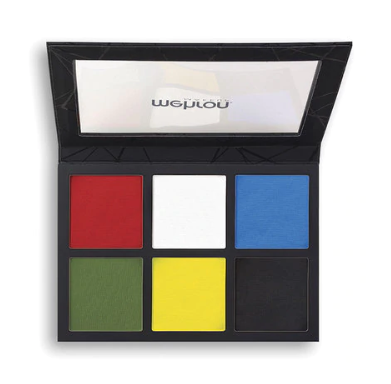 EDGE Face Paint and Body Make Up by Mehron | Large 6 Color Basic Palette