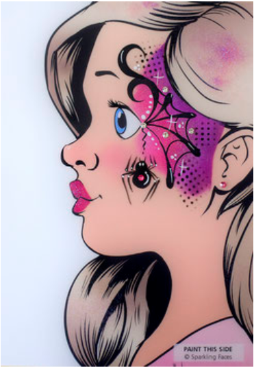 Sparkling Faces | Face Painting Practice Board - Mia Profile demo