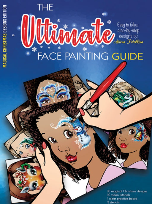 Sparkling Faces | The Ultimate Face Painting Practice Guide - Magical Christmas Designs by Milena Potekhina - Jest Paint Store