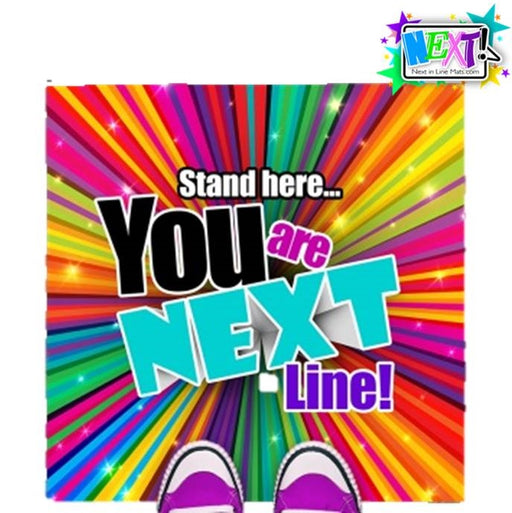 Next In Line Mats Co. - Line Management Floor Mat - Large Rainbow Burst - Jest Paint Store
