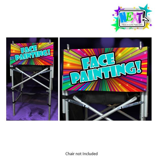 Next In Line Mats Co. - Face Painting Sign - Rainbow Burst - Jest Paint Store