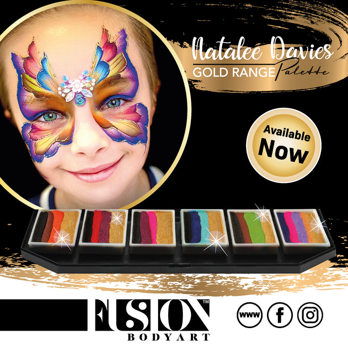 Fusion Body Art - Spectrum Special FX Palette | Natalee Davies Gold Range Collection - Jest Paint Store