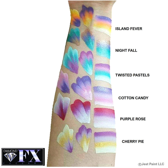 DFX Face Paint Rainbow Cake - Small Island fever swatch