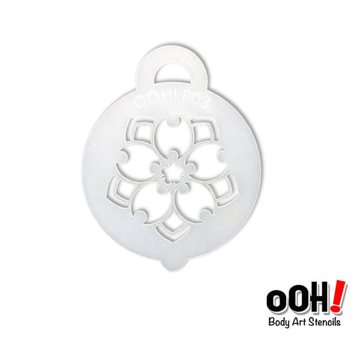 Ooh! Face Painting Stencil | Bellflower (P03)