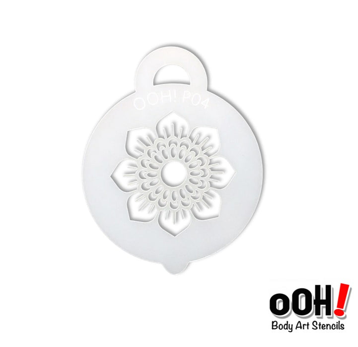 Ooh! Face Painting Stencil | Henna Sunflower Petite (P04)