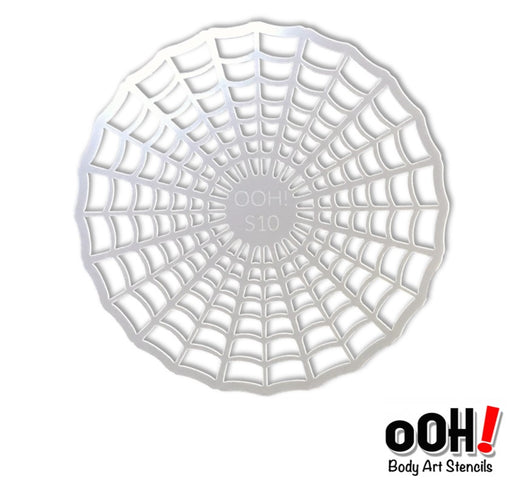 Ooh! Face Painting Stencil | Spiderweb Sphere (S10) - Jest Paint Store