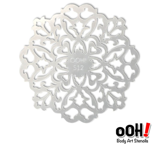 Ooh! Face Painting Stencil | Filigree Sphere (S12)