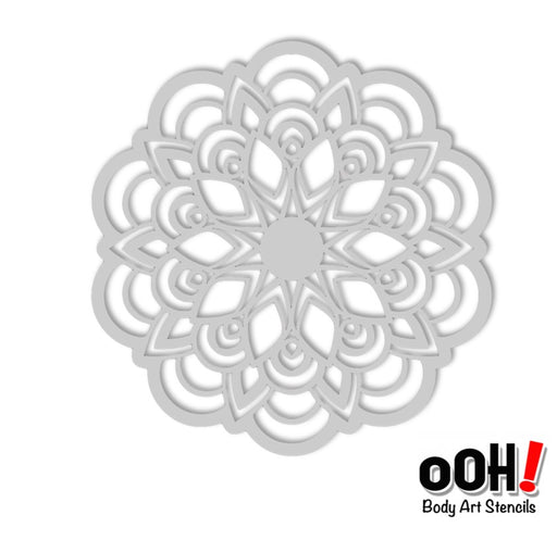 Ooh! Face Painting Stencil | Flower Mandala Sphere (S14)