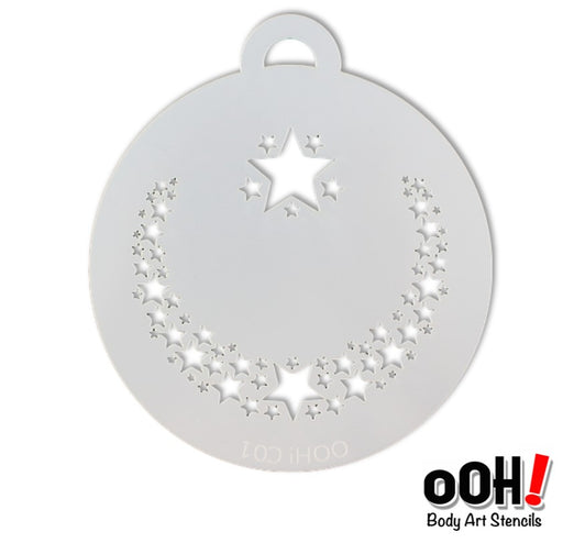 Ooh! Face Painting Stencil | Star Flips (C01) - Jest Paint Store